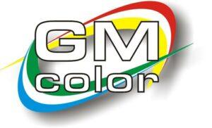 logo napis G M kolor
